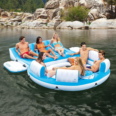 Intex 56299EP 7 Person Inflatable relaxation Island - Blue/White PRE-ORDER