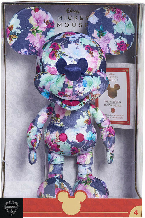 Disney Year of The Mouse Collector Plush Floral Mickey Mouse Special Edition 4