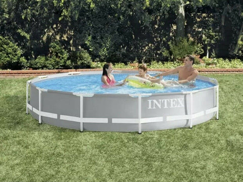 intex 12ft Prism Frame Above Ground Swimming Pool w/ Pump 12' IN STOCK