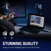 Elgato Cam Link 4K Capture Device HD Recording Streaming in 4K30p or 1080p60