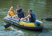 Intex Challenger 3 Inflatable Boat Set with Pump and Oars
