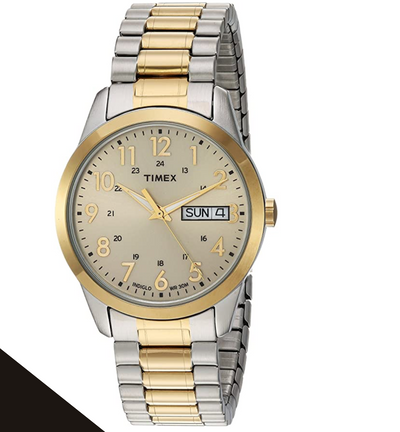 Timex Men's South Street Two Tone/Champagne Extra Long Expansion Band TW2P67400