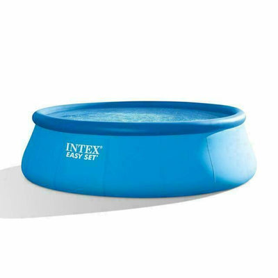 "Intex 15' x 48"" Inflatable Easy Set Above Ground Swimming Pool w/ Ladder & Pump"