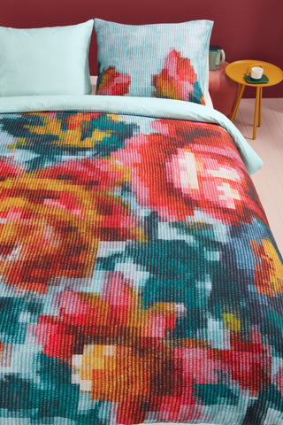 Floral Mosaic Cotton Quilt Cover Set