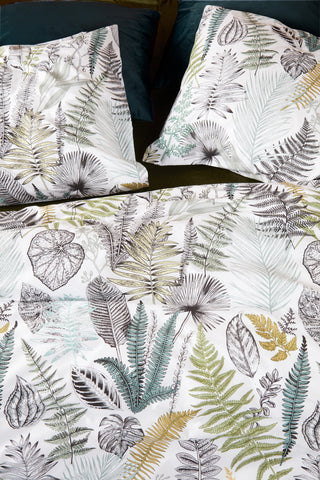 Primeval Green Cotton Quilt Cover Set