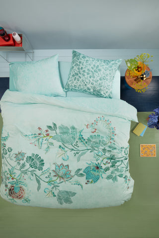 Oilily City Sits Green Cotton Sateen Quilt Cover Set