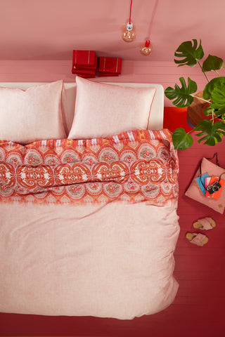 Oilily Paisley Pink Cotton Sateen Quilt Cover Set
