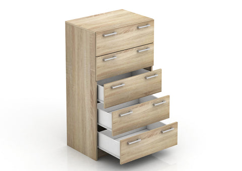 Tribecca 5 Drawer Chest - Light Sonoma Oak