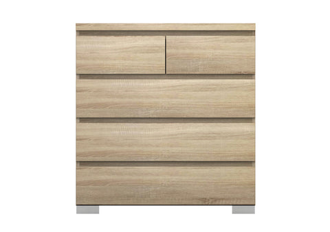 Elara 5 Drawer Chest - Light Sonoma Oak