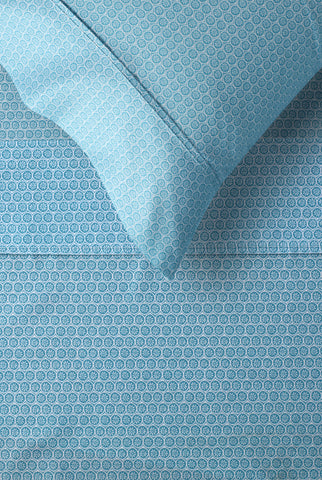 Daisy Blue Printed Microfibre Sheet Sets