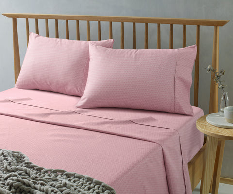 Daisy Pink Printed Microfibre Sheet Sets