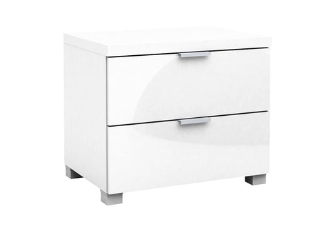 Kyana High Gloss 2 Drawer Bedside Table