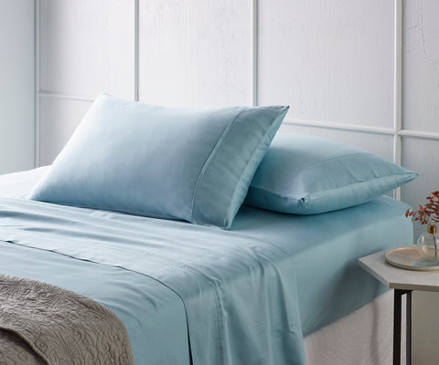 Blue 500TC Bamboo Cotton Sateen Sheet Set