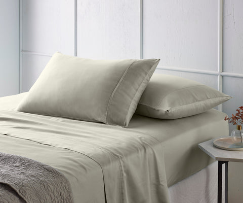 Grey 500TC Bamboo Cotton Sateen Mega Sheet Set (50cm deep pocket)