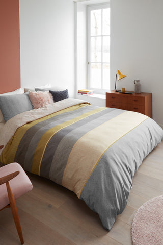 Bodhi Yellow Cotton Sateen Quilt Cover Set