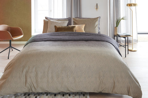Points & Lines Natural Cotton Sateen Quilt Cover Set