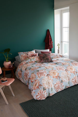 Linen Flower Natural Cotton Quilt Cover Set