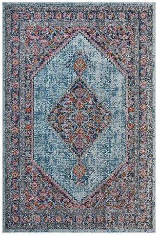 Eternal Whisper Blue Diamond Classic Cotton Blend Rectangular Rug