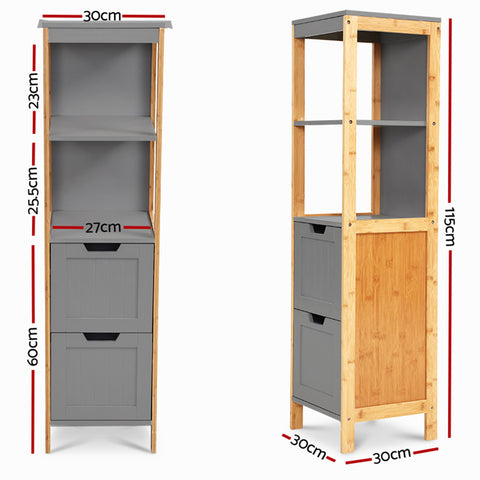Artiss Bathroom Cabinet Tallboy Furniture Toilet Storage Laundry Cupboard 115cm