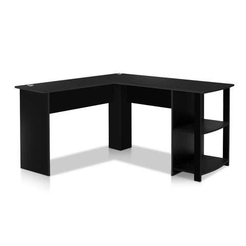 Artiss Office Computer Desk Corner Student Study Table Workstation L-Shape Black
