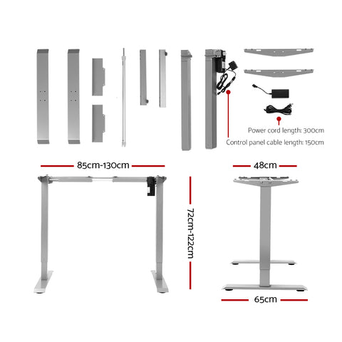 Artiss Standing Desk Height Adjustable Sit Stand Laptop Computer Table Motorised Electric Frame Riser 140cm