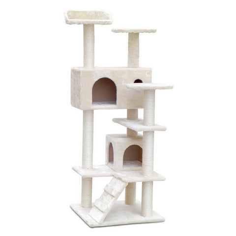 i.Pet 134cm Cat Scratching Post - Beige