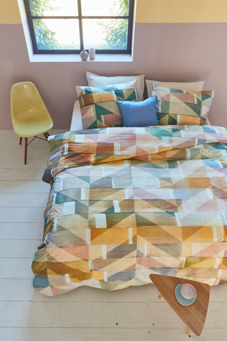 Scrapwood Multi Cotton Quilt Cover Set