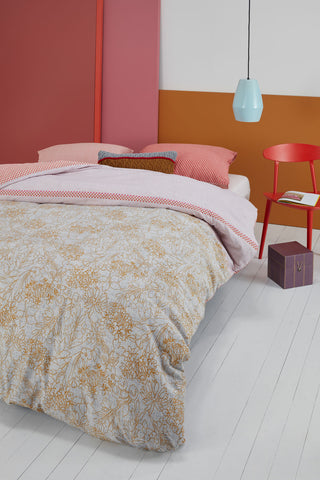 Oilily Fineliner Soft Pink Cotton Sateen Quilt Cover Set