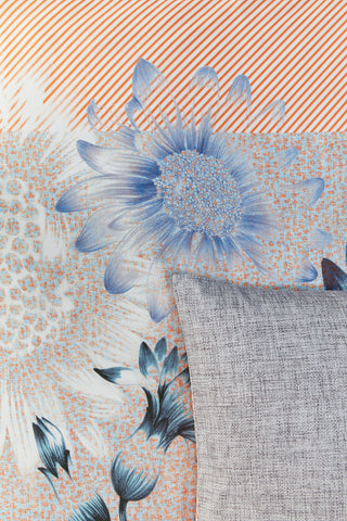 Oilily Sunflowers Blue Cotton Sateen Quilt Cover Set