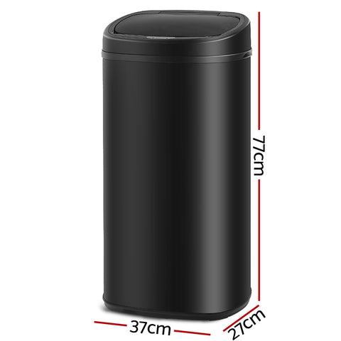 68L Motion Sensor Rubbish Bin - Black