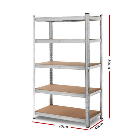 Giantz 0.9M Warehouse Shelving Racking Storage Garage Steel Metal Shelves Rack