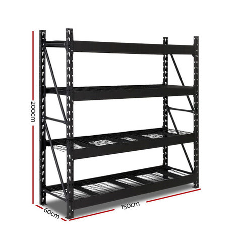 Giantz 1.5M Warehouse Racking Shelving Heavy Duty Steel Garage Storage Rack