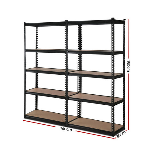 2x0.7M Warehouse Shelving Racking Storage Garage Steel Metal Shelves Rack