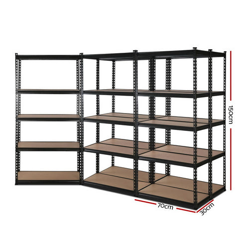 5x0.7M Warehouse Shelving Racking Storage Garage Steel Metal Shelves Rack