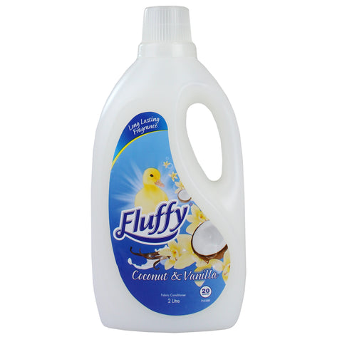 6 x Fluffy 2L Fabric Conditioner Coconut & Vanilla