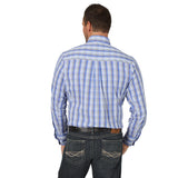 Wrangler® 20X® Performance Long Sleeve Shirt - MPC128M - Royal/Grey