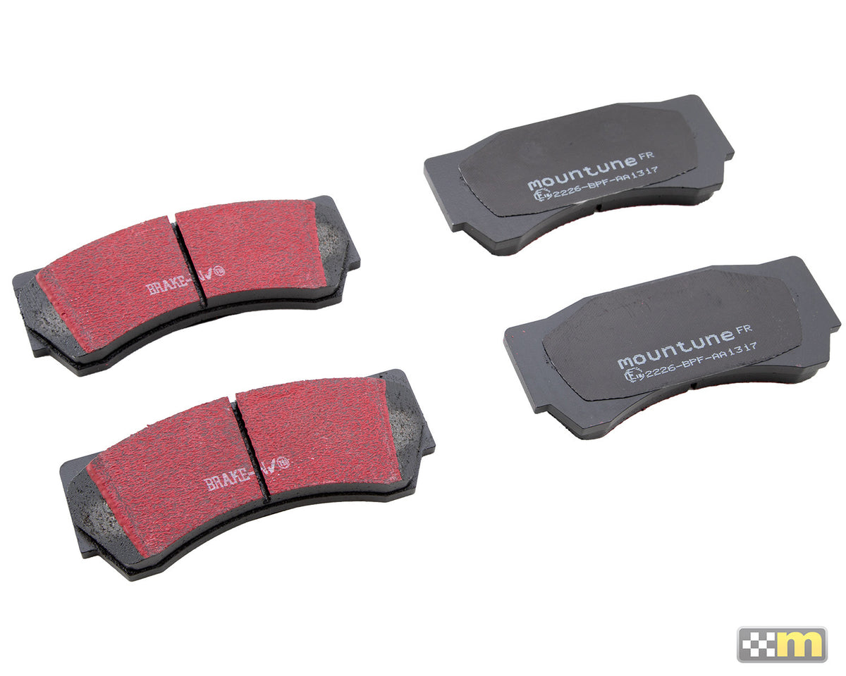 Replacement High-Performance Front Brake Pad Set (to suit Alcon 6-pot caliper) [Mk2 Focus RS/ST]