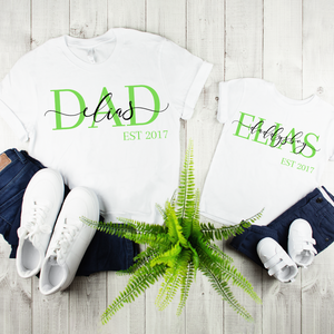 DAD + Kind EST Shirt - personalisiert