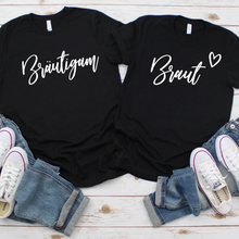 "Lade das Bild in den Galerie-Viewer, ""Braut & Bräutigam"" Couple Shirt-Set"