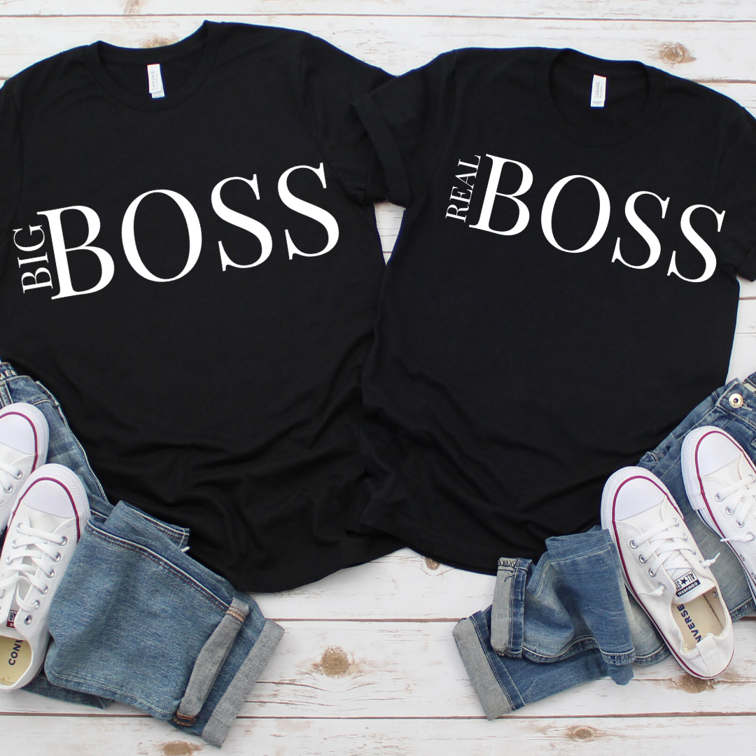 BIG BOSS & REAL BOSS Couple Shirts
