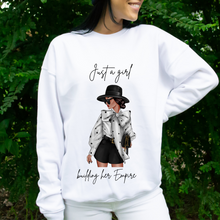 Lade das Bild in den Galerie-Viewer, Just a girl building her Empire Curvy Herbst Sweater