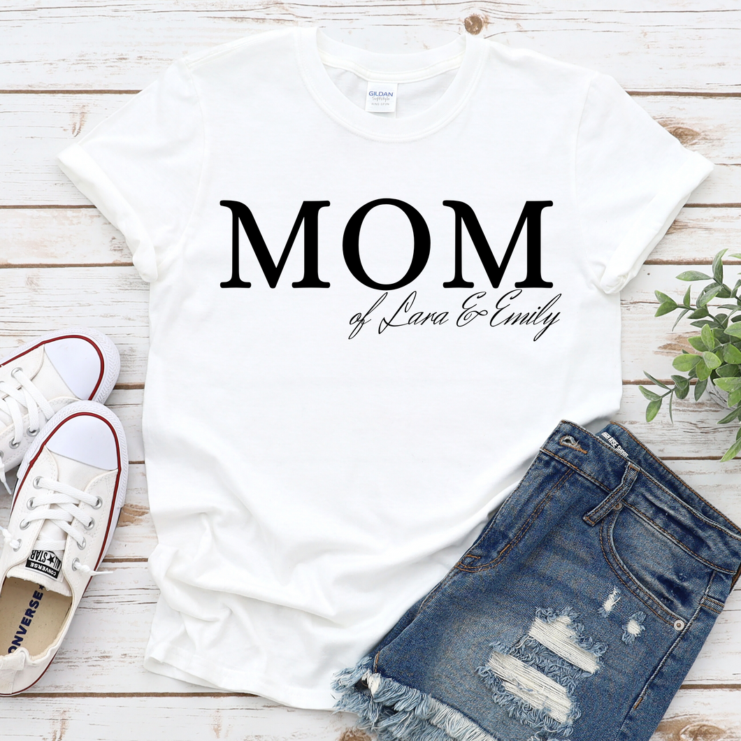 MOM Shirt mit Namen personalisiert