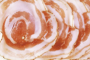 Rolled Pancetta with black pepper 100g Sliced