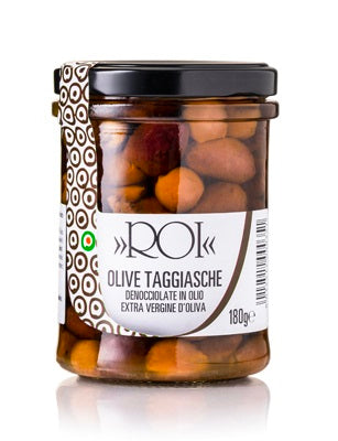Pitted Taggiasca Olives in Oil 180g