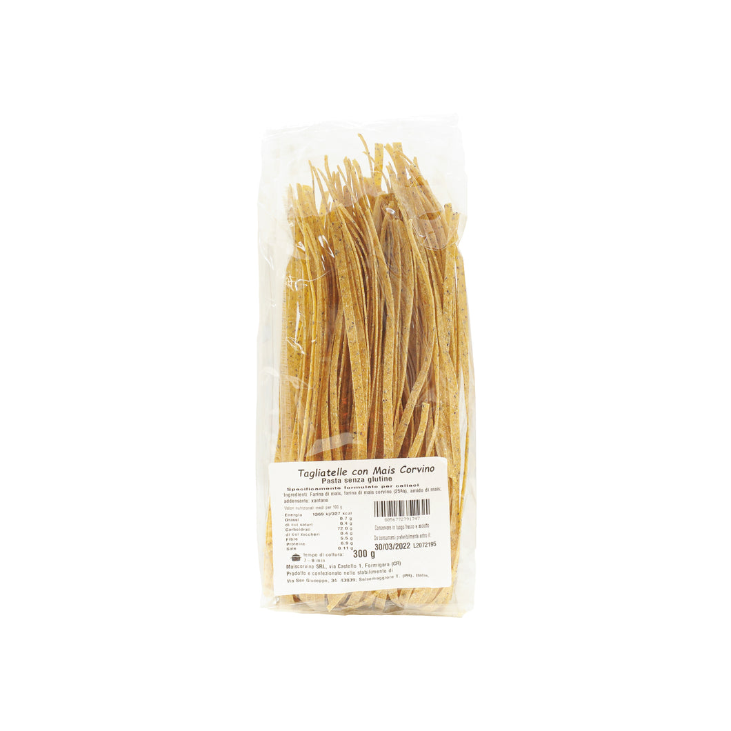 Tagliatelle with Corvino Corn, 300g, Gluten Free - Vegan
