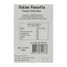 Load image into Gallery viewer, Pancetta 100g Sliced