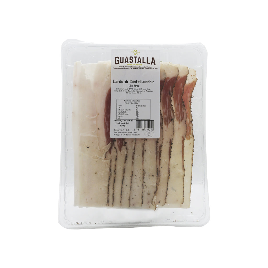 Lardo di Castellucchio with herbs 100g Sliced