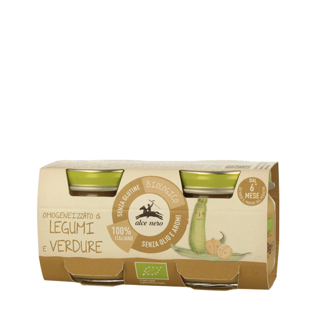 Vegetables & Legumes Puree 2x80g Organic