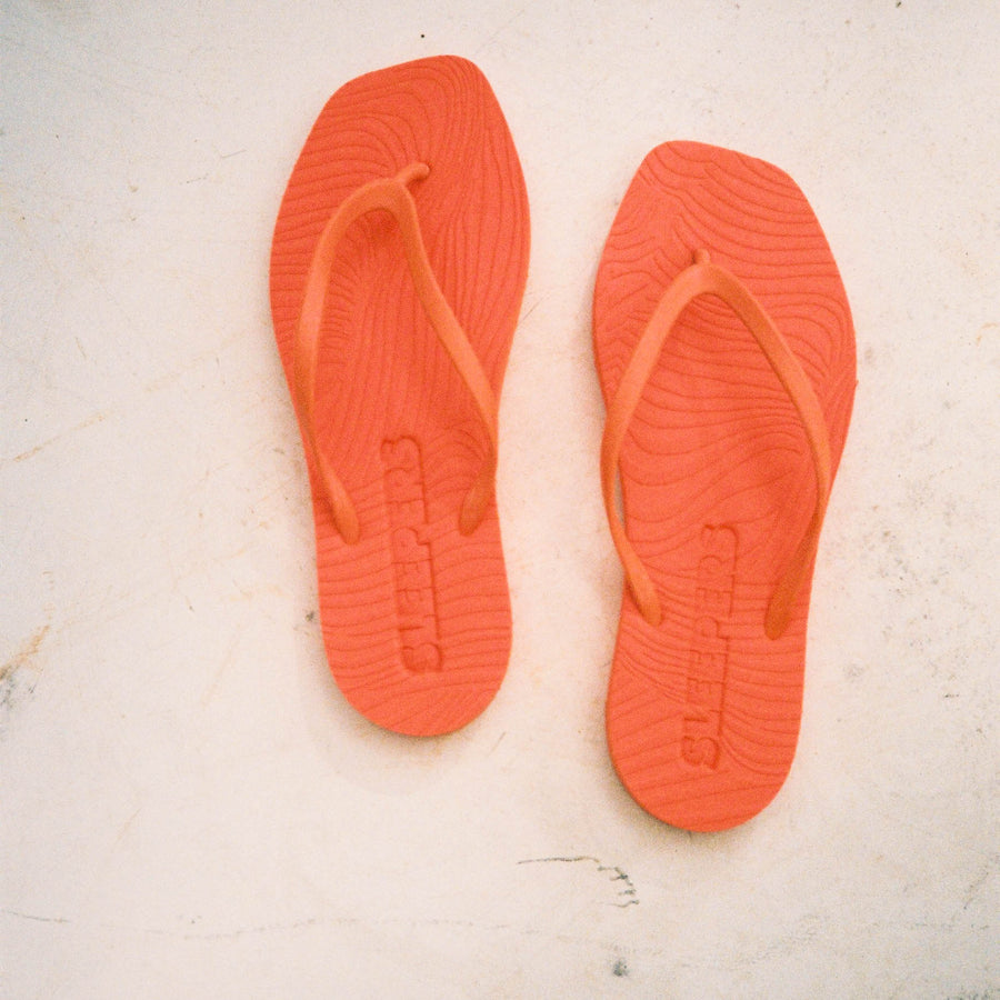 Tapered Orange Flip Flop