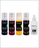 Sublisplash sublimation ink. Inexpensive ink with great quality. Used for sublimation onto polyester and cotton.